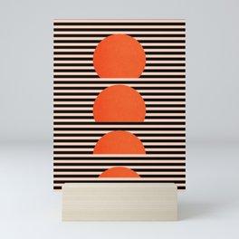 Abstraction_SUNSET_LINE_ART_Minimalism_001 Mini Art Print