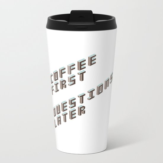 Coffee First Metal Travel Mug