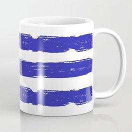 Hand-Drawn Stripes (Navy Blue & White Pattern) Coffee Mug