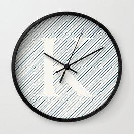 Striped K Wall Clock