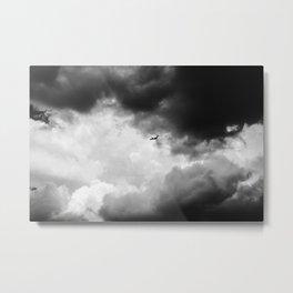 Into Storm Clouds (Qantas 717) Metal Print