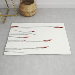 Red and White Spring Rug