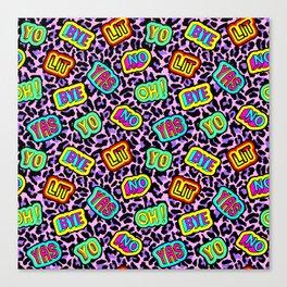 Sticker neonpard Canvas Print