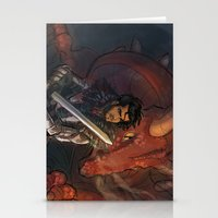 dungeons and dragons Stationery Cards featuring Dragons and Direction: Zayn by invisibleinnocence