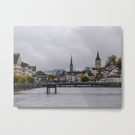 Mountain Fog-Zurich, Switzerland Metal Print