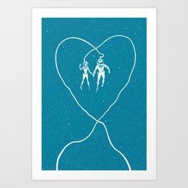 Love Space, Blue Art Print