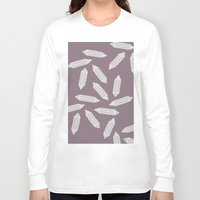 crystals Long Sleeve T-shirts featuring Crystals by Mnjars