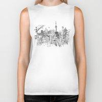 toronto Biker Tanks featuring Toronto! by David Bushell