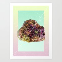 mineral Art Prints featuring Mineral Love by Danny Ivan