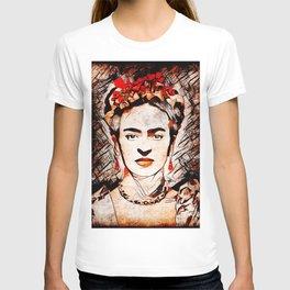 Frida Kahlo Red Rose T-shirt