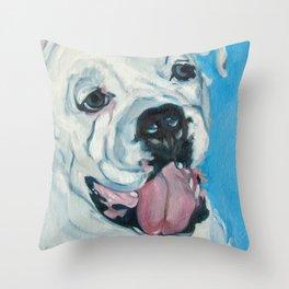 Atlas the Boxer Throw Pillow