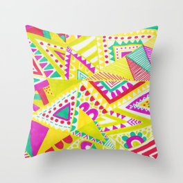 Circus Candy Gemetic Throw Pillow