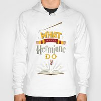 hermione Hoodies featuring What Would Hermione Do? by Frying Sausage