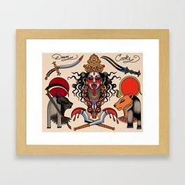 Warrior goddess Framed Art Print