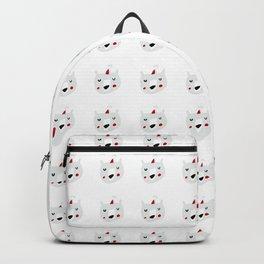 Cute holiday bear white Backpack