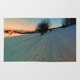 Hiking through winter wonderland | landscape photography Rug