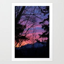 Sunrise Through The Trees 2 Art Print