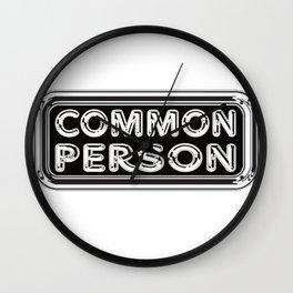 Common Person Wall Clock