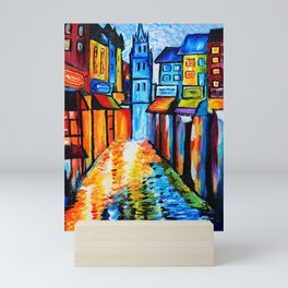 By The Old Church Mini Art Print