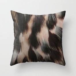 Hawk Feathers Throw Pillow