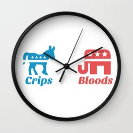 Crips and Bloods Wall Clock