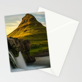 Kirkjufell Mountain at Sunset in Iceland Stationery Cards