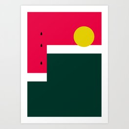 Watermelon Sun Step Art Print