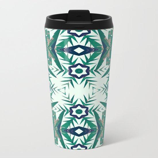 Tropical Snowflakes Metal Travel Mug