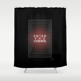 Enter the Cosmos: Portal Shower Curtain