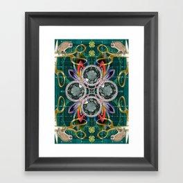 Four of Pentacles Framed Art Print