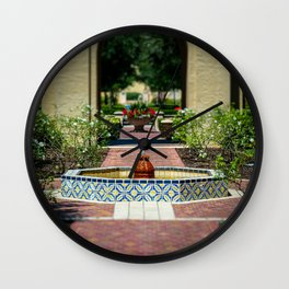 Courtyard Fountain Rollins College Winter Park Central Florida Orlando Wall Clock