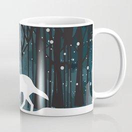 White Wolf at Midnight Coffee Mug