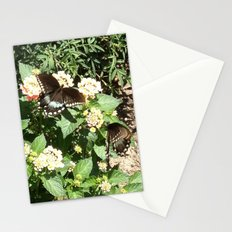 Butterflies on Flowers Stationery Cards