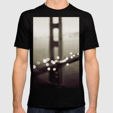 Meet Me In San Francisco (Black and White Edition)  Black Mens Fitted Tee SMALL