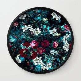 Night Garden IX Wall Clock