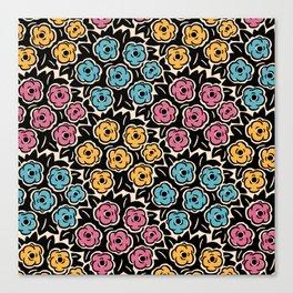 Mid Century Modern Flower Bouquet Pattern 951 Canvas Print