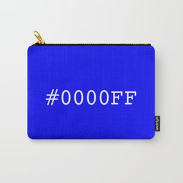 #0000FF (blue) Carry-All Pouch
