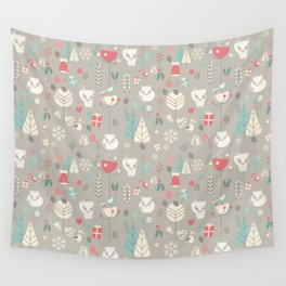 Baby fox pattern 03 Wall Tapestry