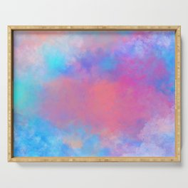 DREAMER Aesthetic Colorful Clouds Serving Tray