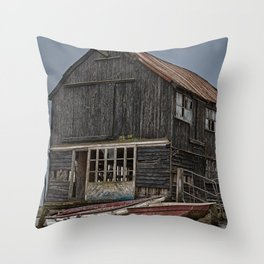 Seaside Wreck Throw Pillow