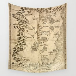 Map of Aemogen Wall Tapestry