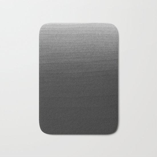 Black and White Ink Gradient Bath Mat