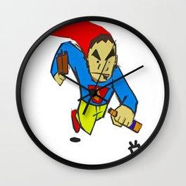 Super Drunkard Wall Clock