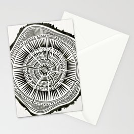 Paper Birch – Black Tree Rings Stationery Cards