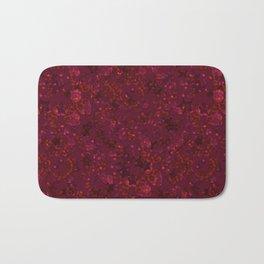 Red festive confetti. Red glitter. Bath Mat
