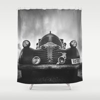 rat Shower Curtains featuring The rat by HappyMelvin
