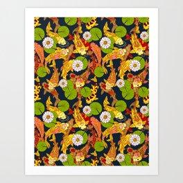 Bright Koi Art Print