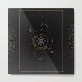 Tarot geometric #3: North star Metal Print