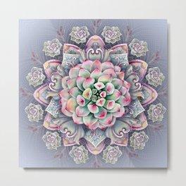 succulent mandala 5 Metal Print