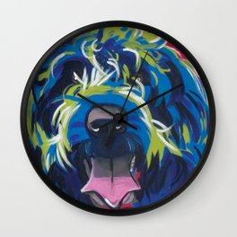 Wirehaired Griffon or Labradoodle Pop Art Pet Portrait Wall Clock